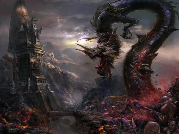 godlike-monster-art-snake-dragon